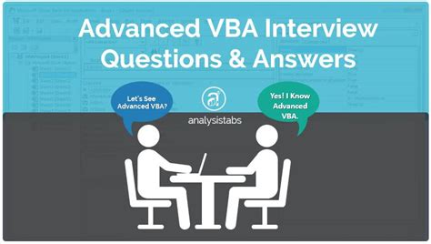 vba tutorial questions advanced vba interview questions and answers