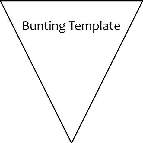 printable bunting template hazel fisher creations may 2012