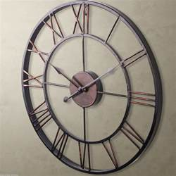 big wall clocks large 60cm classic vintage cast iron wrought garden wall