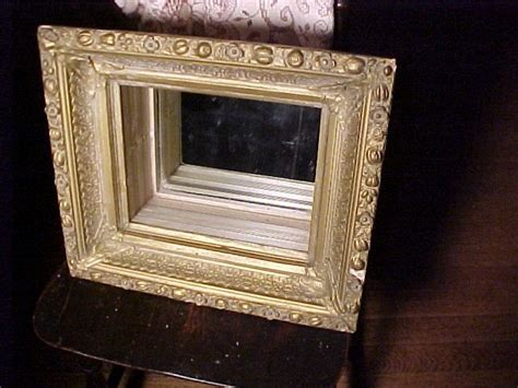 vintage hanging shelf frame with mirror from fhtv on ruby