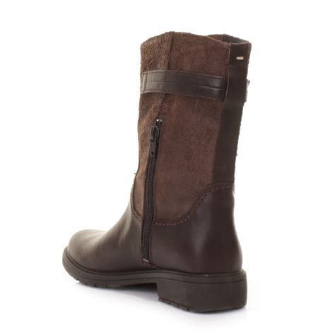 womens cer 1900 land brown leather biker casual ankle