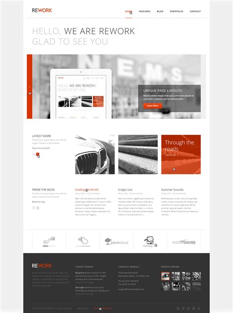 rework template http themeforest net item liveset modern and clean psd