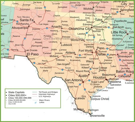 new mexico and texas map map new mexico and texas with map of west texas usa find your way