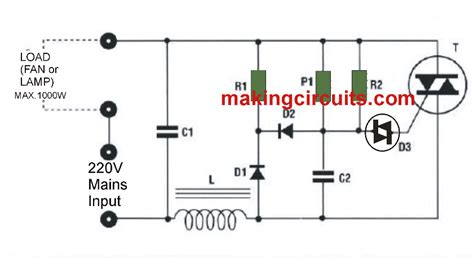 capacitor based fan regulator circuit fan capacitor regulator circuit 28 images simple fan regulator circuit using triac and diac