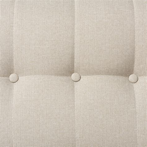 button tufted baxton studio mid century light beige fabric