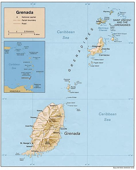 where is grenada on a map grenada the spice island lesser antilles windward