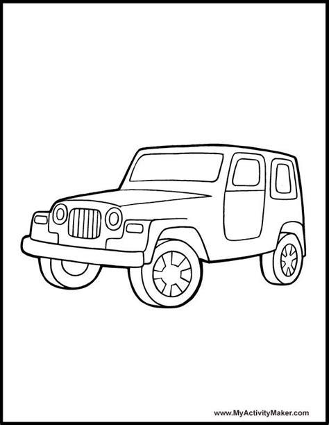Safari Jeep Coloring Page Coloring Home