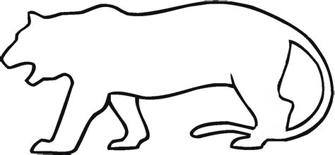 tiger outline clipart clipartxtras