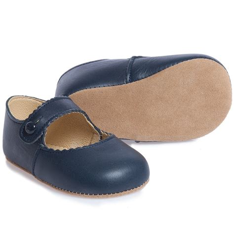 navy baby shoes early days navy blue leather pre walker