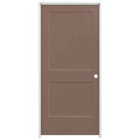 jeld wen interior doors jeld wen 36 in x 80 in smooth 2 panel medium chocolate solid molded composite single