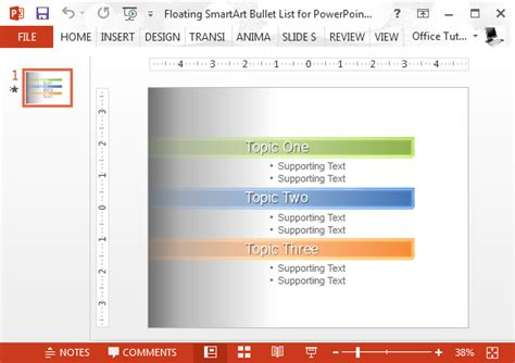 Floating Smartart Bullet List For Powerpoint Microsoft Word Smartart Templates