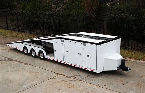 in trailer 36 custom wide toyhauler becker custom trailers