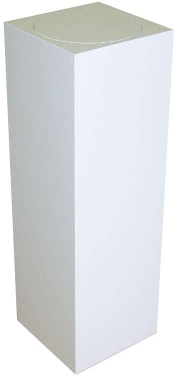 pedestal white tall laminate turntable pedestal spinning podium fixtures