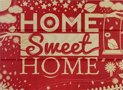 home sweet home there s no place like home wooden wall