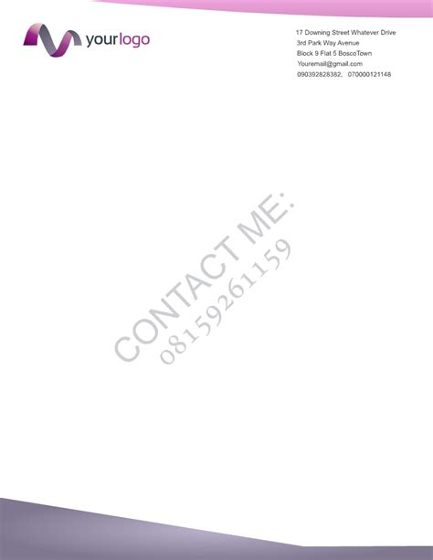 Bank Nigeria Letterhead For Only N10 000 I Will Design A Business Card Invoice 4 More Documents Business Nigeria