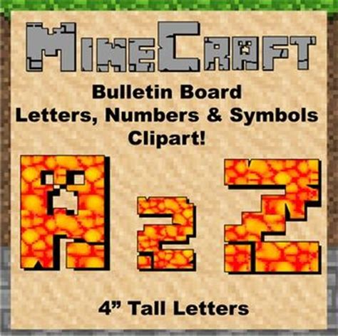 pattern for cutting letters for bulletin boards the 17 best images about minecraft classroom theme decoration