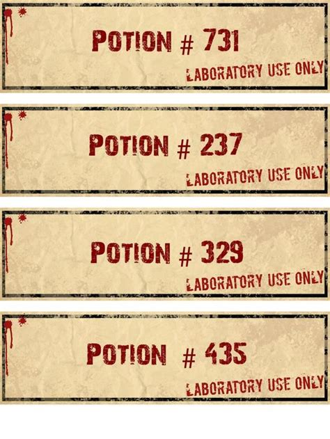 printable potion labels how to make halloween potion bottle labels