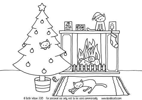 Free Printable Coloring Pages Of How The Grinch Stole Free Christmas Colouring Pages Doodlecats by Free Printable Coloring Pages Of How The Grinch Stole