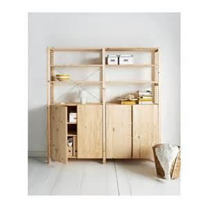 ivar kitchen ivar 2 sections shelves cabinet pine 174x30x179 cm ikea