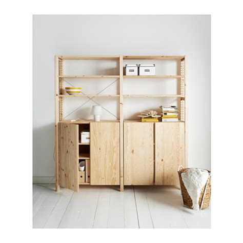 ivar 2 sections shelves cabinet ikea ivar 2 sections shelves cabinet pine 174x30x179 cm ikea