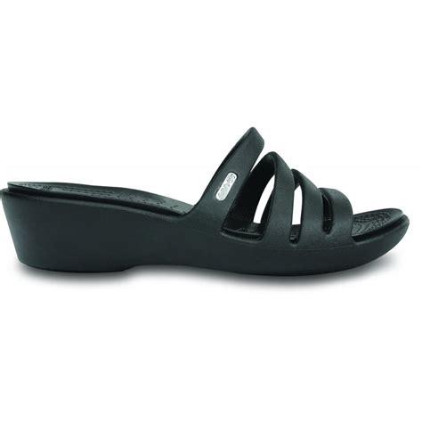 On Sale Crocs Mini Wedge 4cm crocs womens rhonda wedge black black mini wedge sandal
