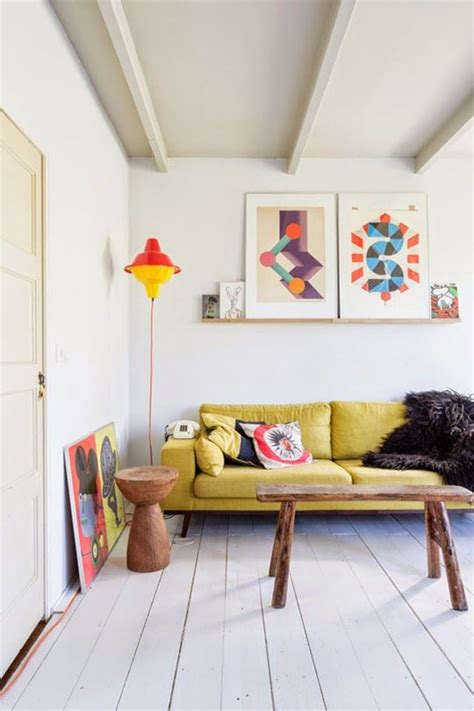 the yellow sofa how to design with and around a yellow living room sofa