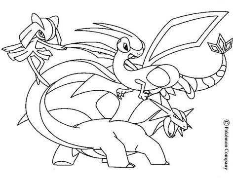 pokemon coloring pages flygon kirlia flygon and salamence coloring pages hellokids com