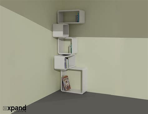 Corner Cube Shelf by Modular Corner Cube Shelf M Expand Furniture