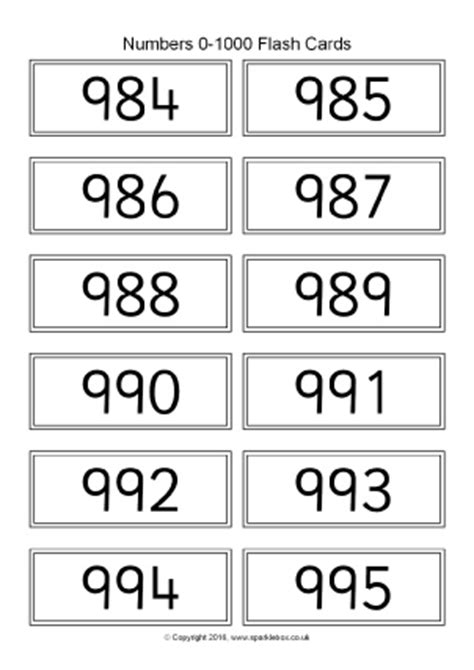 printable number flashcards 1 1000 common worksheets 187 large printable numbers 1 100
