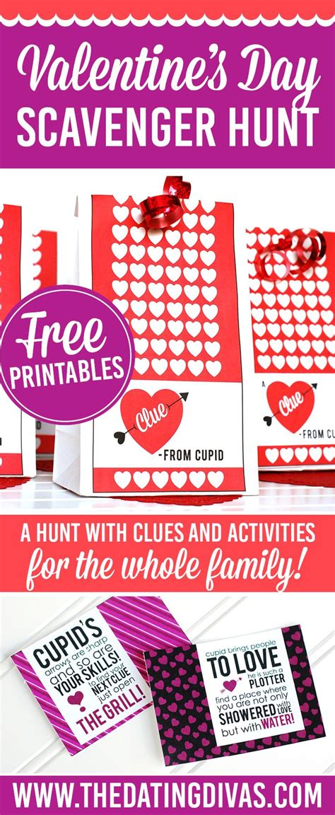 valentines treasure hunt valentine s day scavenger hunt crafts diy home