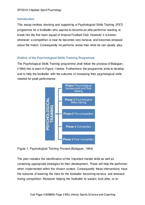 a mental skills training programme psychological skills