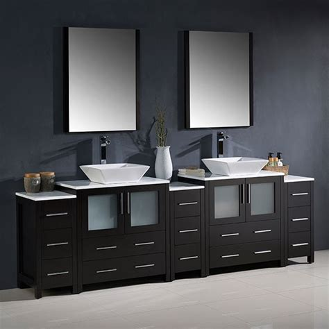 96 inch bathroom vanity fresca torino double 96 inch modern bathroom vanity