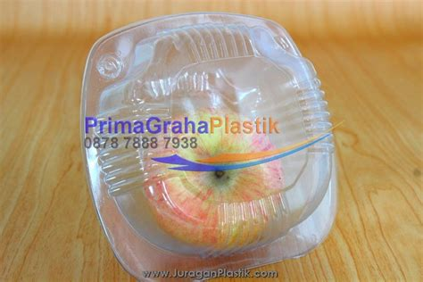 Plastik Kue Cherry 7x7 hamburger segel luvin box stp home