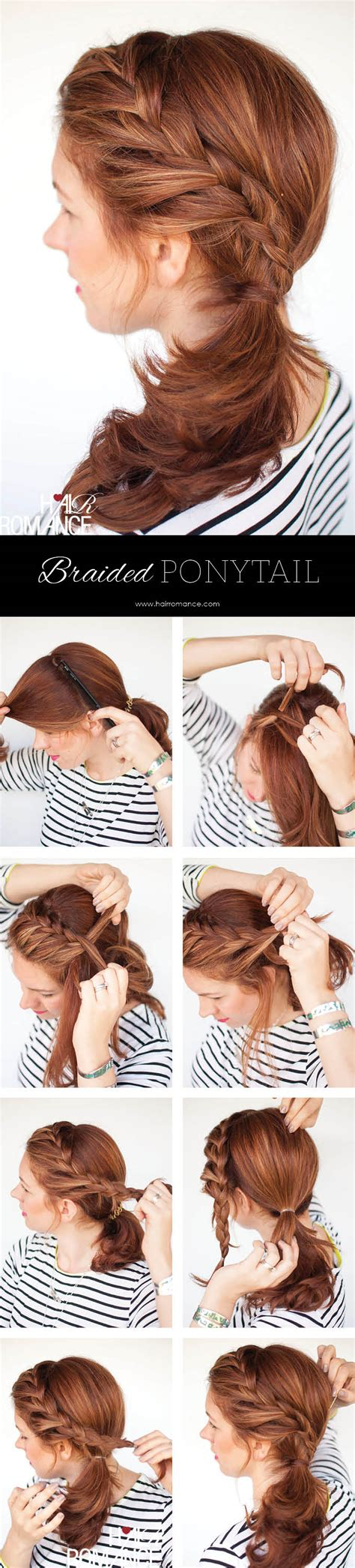 easy braided ponytail hairstyle how to hair romance weekend style braided ponytail tutorial hair romance