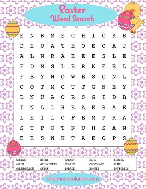 printable word search evolution easter word search word search free printable and easter