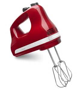 Red Kitchen Aid Toaster 5 Speed Ultra Power Hand Mixer Khm512er Empire Red