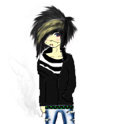 cartoon emo hairstyles cute emo boy by dahviegoesrawr on deviantart