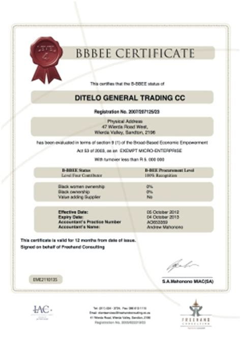 bee certificate template bee strata pty ltd sandton cylex 174 profile