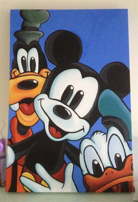 mickey mouse clubhouse schlafzimmer ideen mickey mouse canvas painting inspirierend