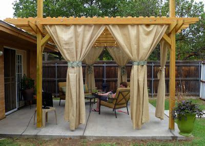 outdoor burlap curtains sweet tea sunsets operation back yard part 4 backyard