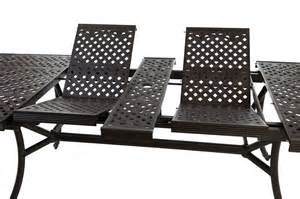 Extending Patio Table Outside Edge Garden Furniture The Versatile Extendable 12 Seater Cast Aluminium