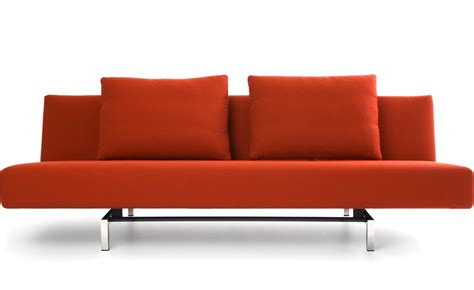 Sleeper Sofa With 2 Cushions Hivemodern Com Modern Sleeper Sofa