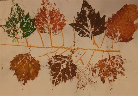 autumn branches leaf print project 1 october 2011