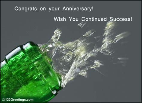 A Corporate Anniversary Wish! Free At Work Etc eCards