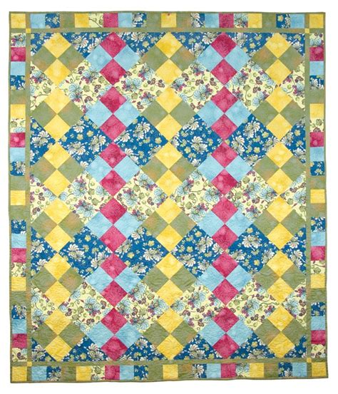 Basic Patchwork Quilt Pattern - 26 best basic fast and easy patchwork patterns for