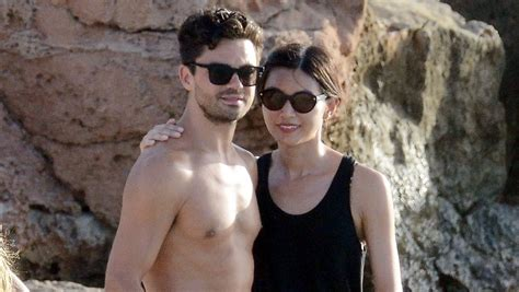 Chann Cooper dominic cooper gemma chan relax at the in spain