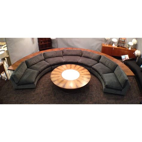 half circle sectional sofa complete milo baughman thayer coggin half circle sectional