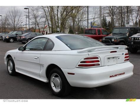1995 white mustang white 1995 ford mustang v6 coupe exterior photo