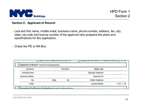 hpd section 8 phone number new york city department of buildings filing rep course 206