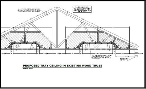 Tray Ceiling Trusses Daniel F Ardito Pe Structural Engineer Tray Ceilings In